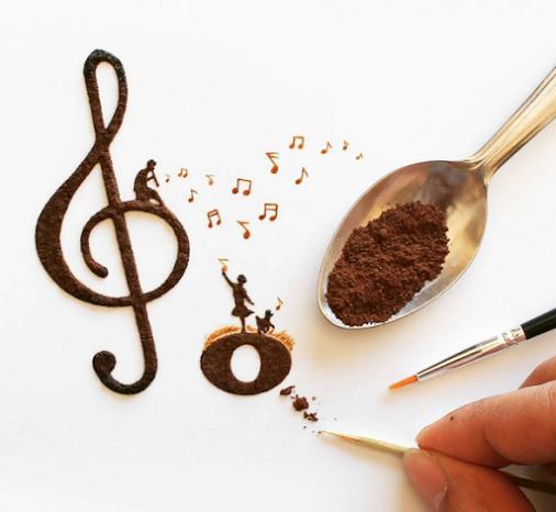 Mesmerizing Coffee Art by Indonesian Artist Ghidaq al-Nizar